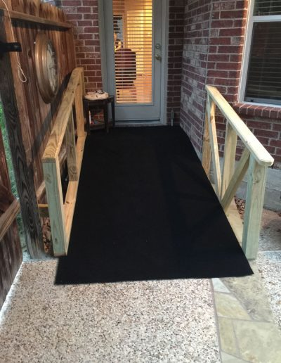 Back Door With Completed Ramp