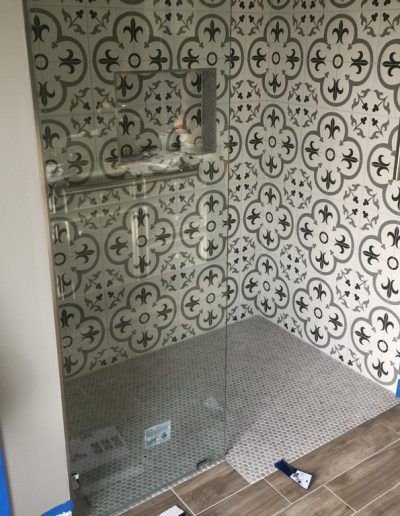 Finished Shower and Floors