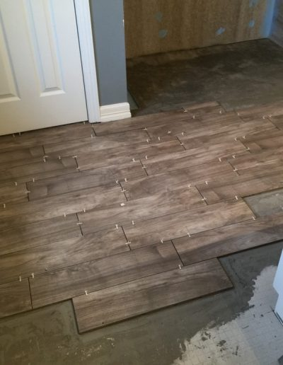 New Floor Tile and Formed Shower Pan